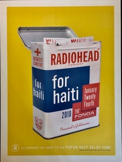 Radiohead Rare Concert Poster for sale